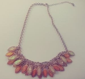 Rose Gold Colored Opal Necklace.